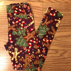 LuLaRoe Tween Christmas Leggings NWT